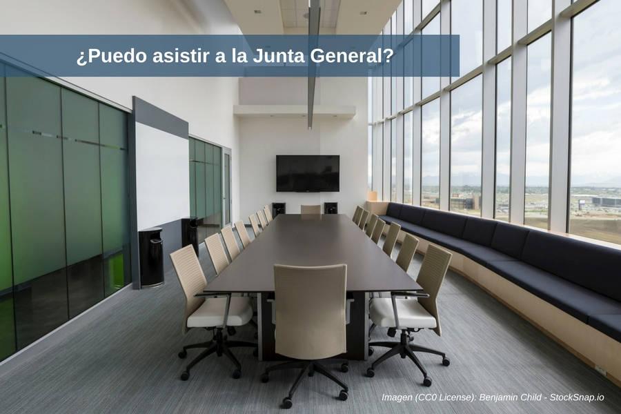 ¿Puedo asistir a la Junta General?